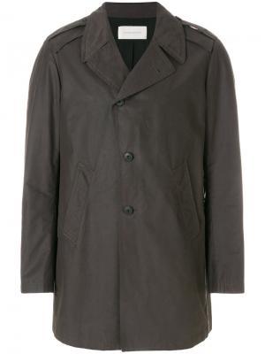 Однобортное пальто Mauro Grifoni. Цвет: серый