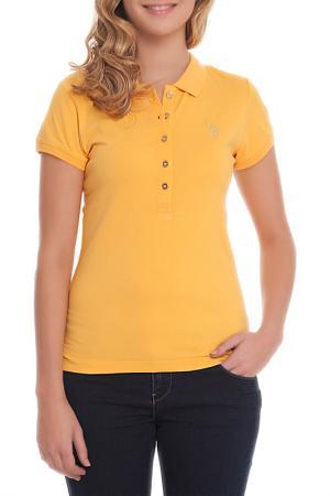 Футболка U.S. Polo Assn.. Цвет: желтый