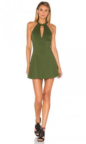 Платье x revolve jo Amanda Uprichard. Цвет: зеленый