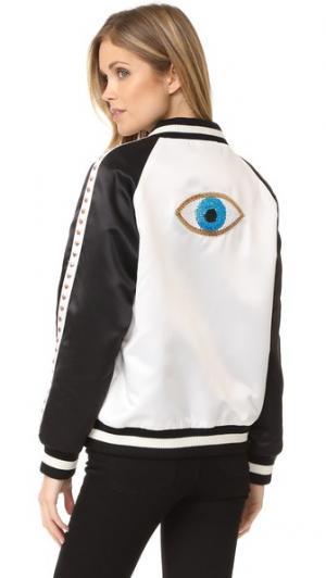 Бомбер Evil Eye Jocelyn. Цвет: черный/белый