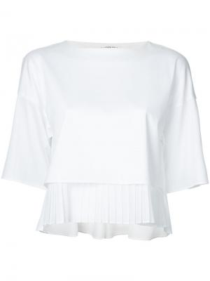Pleated hem blouse Taro Horiuchi. Цвет: белый