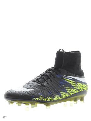 Бутсы HYPERVENOM PHATAL II DF FG Nike. Цвет: черный, коралловый