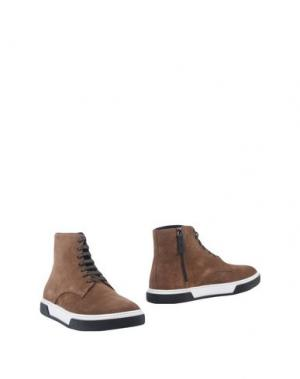 Полусапоги и высокие ботинки ALEJANDRO INGELMO. Цвет: верблюжий