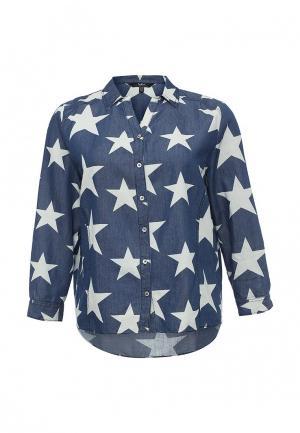 Рубашка Ulla Popken. Цвет: синий
