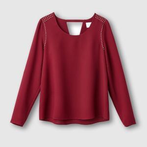 Блузка с отделкой заклепками. SUD EXPRESS. Цвет: бордовый,черный