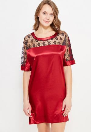 Сорочка ночная Cauris. Цвет: бордовый