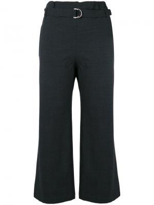 Укороченные строгие брюки Cruciani. Цвет: чёрный