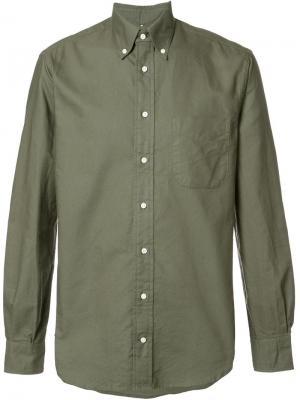 Рубашка с воротником на пуговицах Gitman Vintage. Цвет: зелёный