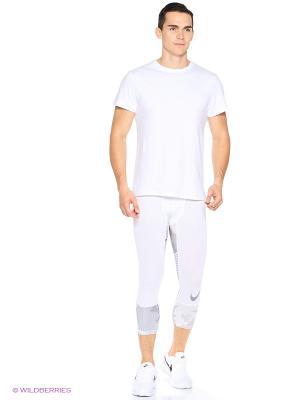 Тайтсы M NP HPRCL TGHT 3QT AOP Nike. Цвет: белый