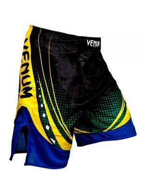 Шорты ММА Venum Lyoto Machida UFC Edition Electron 3.0  - Black. Цвет: черный, желтый, синий