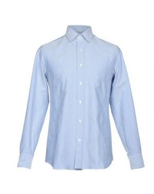Pубашка SALVATORE PICCOLO. Цвет: лазурный