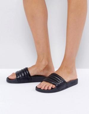 Slydes Черные сандалии Port. Цвет: черный