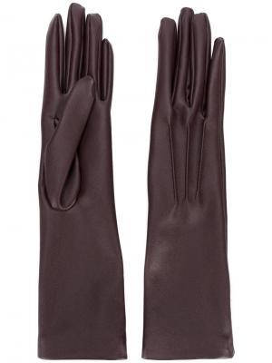 Длинные перчатки Stella McCartney. Цвет: розовый и фиолетовый