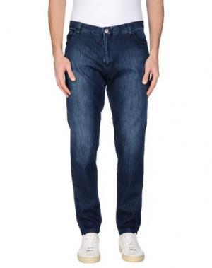 Джинсовые брюки MAESTRAMI. Цвет: синий