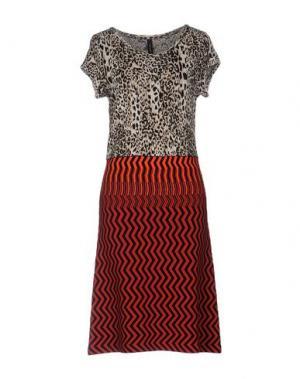 Платье до колена MARC CAIN. Цвет: красный