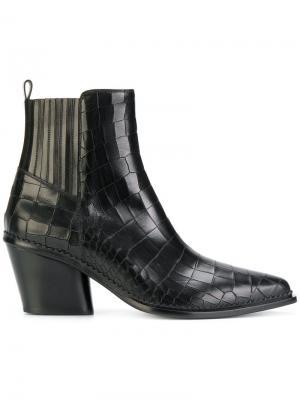 Ботинки в стиле Вестерн Sartore. Цвет: чёрный