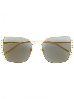 Солнцезащитные очки-авиаторы Boucheron. Цвет: металлический
