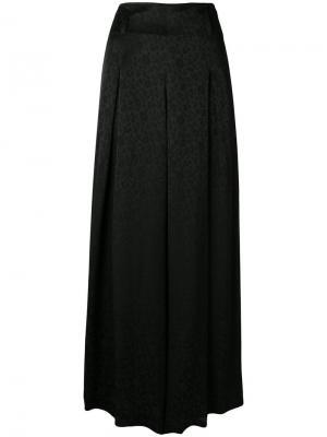 Широкие брюки  с цветочным узором Etro. Цвет: чёрный