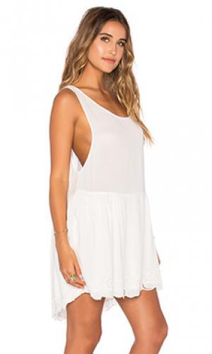 Платье с вышивкой open road AUGUSTE. Цвет: белый