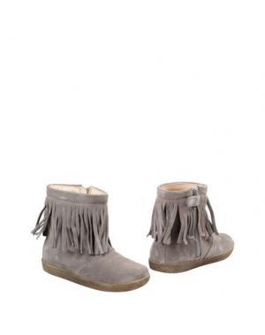 Полусапоги и высокие ботинки FALCOTTO. Цвет: серый