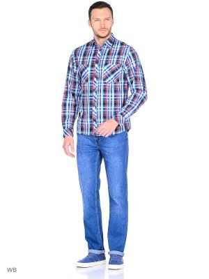 Рубашка YC COTTON. Цвет: красный, синий, зеленый