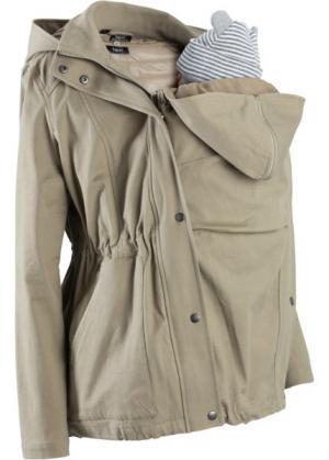 Для будущих мам: куртка со съемным жилетом и вставкой малыша (новый хаки) bonprix. Цвет: новый хаки