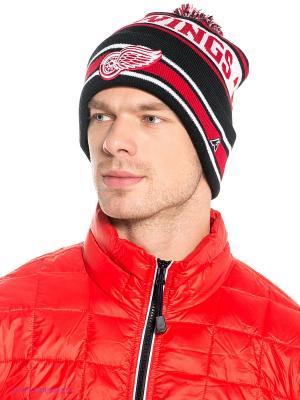 Шапка NHL Red Wings Atributika & Club. Цвет: черный, красный