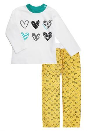 Пижама: свитшот, штанишки КОТМАРКОТ. Цвет: желтый