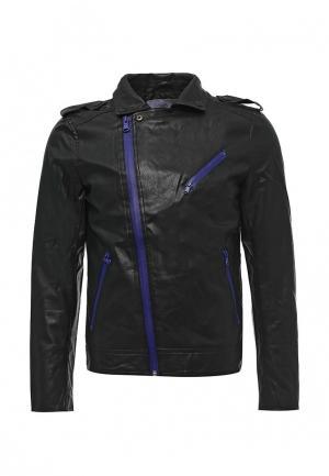 Куртка кожаная Sixth June. Цвет: черный
