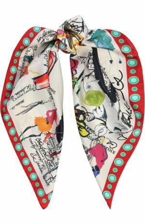 Шелковый платок с принтом Christian Lacroix. Цвет: белый