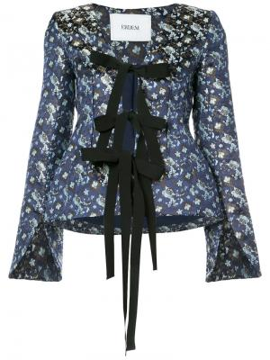 Блузка Mila Erdem. Цвет: синий