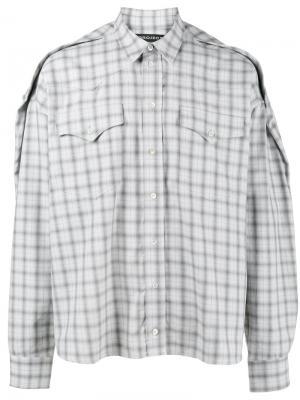 Клетчатая рубашка свободного кроя Y / Project. Цвет: серый