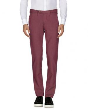 Повседневные брюки OAKS. Цвет: красно-коричневый