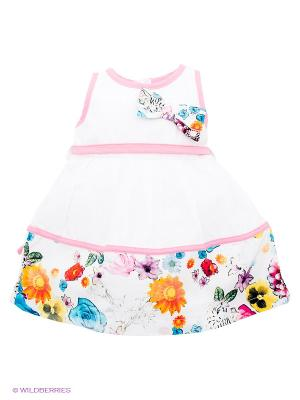 Платье Baby Rose. Цвет: белый, розовый