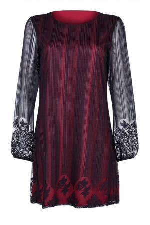 Платье Iska. Цвет: vinous, black