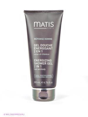 Гель энергетический для тела и волос, 200 мл Matis. Цвет: серо-коричневый