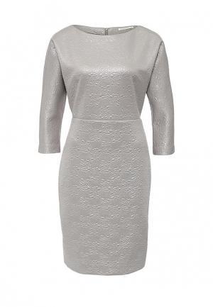 Платье Zarina. Цвет: серебряный
