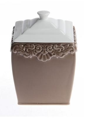 Банка для сыпучих продуктов 11,5*11,5* 16 см. PATRICIA. Цвет: коричневый