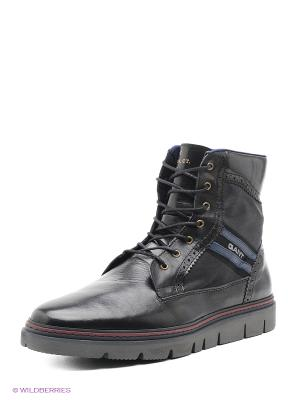 Ботинки высокие GANT. Цвет: черный