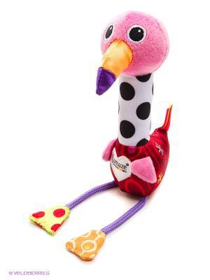 Мягкая пищалка Веселый Розовый Фламинго Tomy Lamaze. Цвет: черный, красный, розовый, белый
