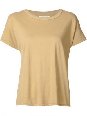 Базовая футболка The Great. Цвет: жёлтый и оранжевый