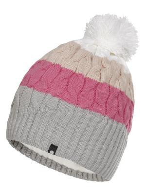 Шапка Icepeak. Цвет: светло-серый, розовый