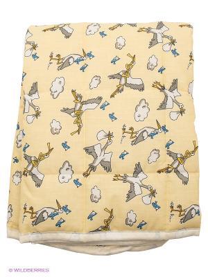 Одеяло Baby Nice. Цвет: светло-желтый, белый, серый
