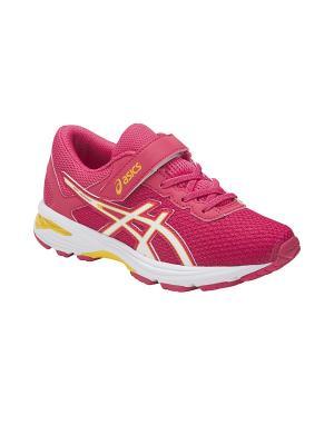 Кроссовки  GT-1000 6 PS ASICS. Цвет: розовый, белый, желтый