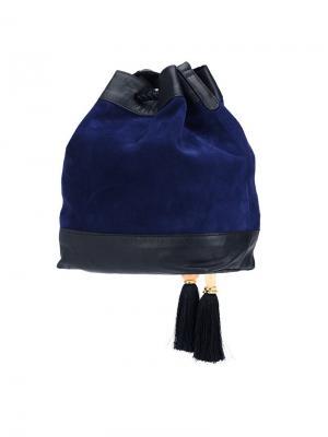 Сумка-мешок через плечо Lizzie Fortunato Jewels. Цвет: синий