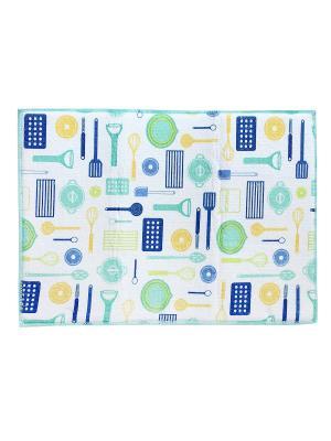 Полотенце для сушки посуды Dream time. Цвет: морская волна, белый