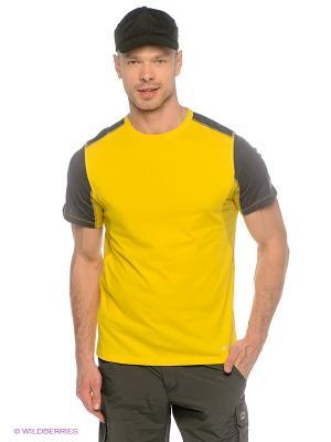 Футболка Alpine PRO. Цвет: желтый