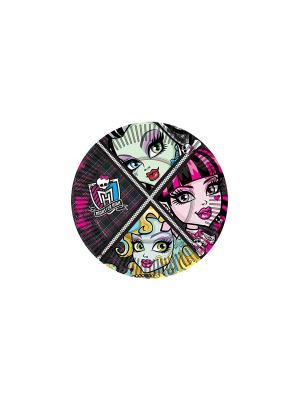Тарелка бумажная, 18 см, 10 шт. Mattel. Цвет: черный, розовый