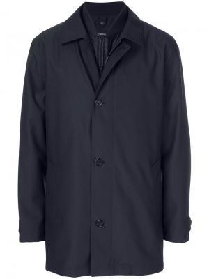 Однобортное пальто Z Zegna. Цвет: синий