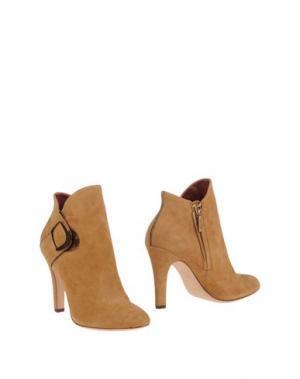 Полусапоги и высокие ботинки AERIN. Цвет: песочный